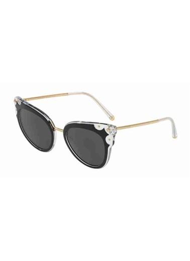 Dolce&Gabbana Dolce & Gabbana 4340 675/87 51 Ekartman Unisex Güneş Gözlüğü Siyah